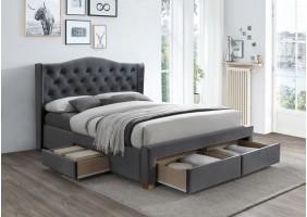 Двуспальная кровать Aspen II Velvet 160X200 Серый