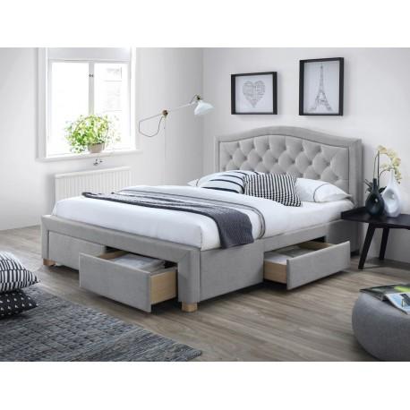 thumb Полуторная кровать Electra 140X200 Серый 1