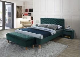 Двуспальная кровать Azurro Velvet 180X200 Зеленый