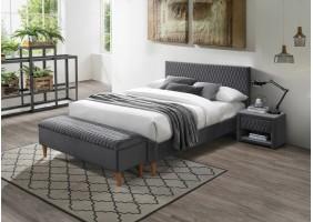 Двуспальная кровать Azurro Velvet 160X200 Серый