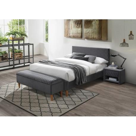 thumb Двуспальная кровать Azurro Velvet 160X200 Серый 1