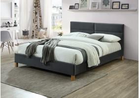 Двуспальная кровать Sierra Velvet 160х200 Серый