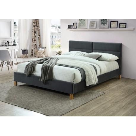 thumb Двуспальная кровать Sierra Velvet 160х200 Серый 1