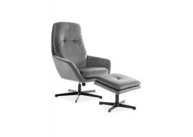Кресло реклайнер Ford Velvet Серый