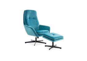 Кресло реклайнер Ford Velvet Бирюзовый