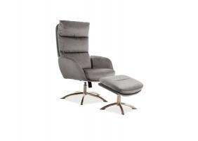 Кресло Monroe Velvet Серый