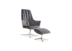 Кресло Adams Velvet Серый
