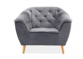 Кресло Galaxy 1 Velvet Серый