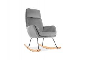 Кресло качалка Hoover Velvet Серый
