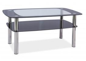 Журнальный стол Rava C Прозрачный/Хром100x60X55