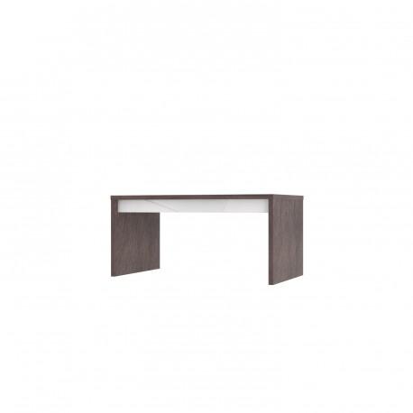 thumb Virgo T Intarsio Журнальный столик 110х45,5 см Дуб ансберг темный + ультра белый металлик 1