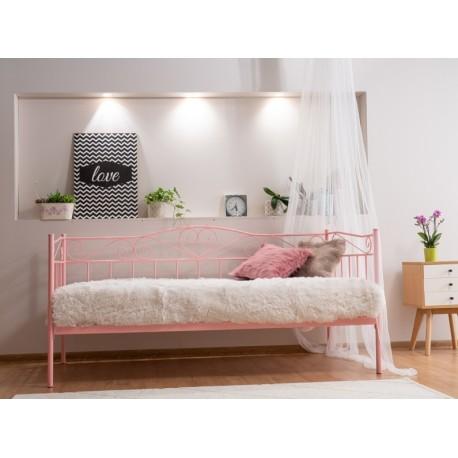 thumb Односпальная кровать Birma 90X200 Розовый 5
