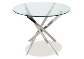 Стол обеденный Agis 90 х 90 см Прозрачный /Хром