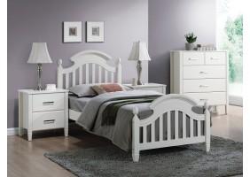 Односпальная кровать Lizbona 90X200 Белый