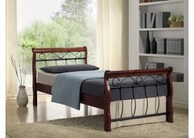 Односпальная кровать Venecja bis 90X200 Черешня античная