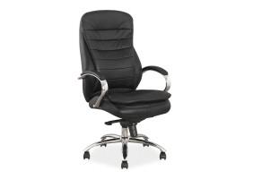 Кресло Q-154 Черный Кожа / Экокожа