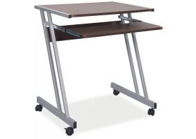 Компьютерный стол B-233 Коричневый / Алюминий