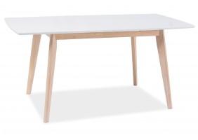 Стол обеденный Combo II Белый/Дуб беленый 120(160)X80