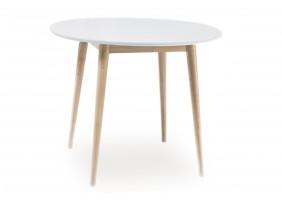 Стол обеденный Larson 75х90х90 Белый / Дуб беленый