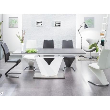 thumb Стол обеденный Alaras II Черный эфект каменя/Белый 160(220)x90 2
