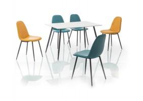 Стол обеденный Floro 120х80 см Белый / Черный каркас