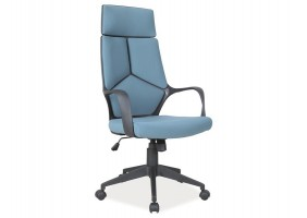Кресло Q-199 Голубой / Черный каркас