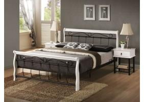 Двуспальная кровать Venecja 160X200 Бело/Чёрный