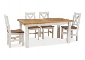 Стол обеденный Poprad 90х160 Коричнево-медовый