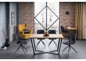Стол обеденный Marcello 180x90 Натуральный Шпон/Черный