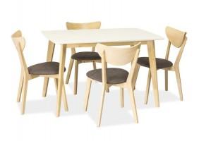 Стол обеденный Combo 120 х 75 Белый /Дуб беленый