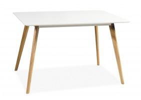 Стол обеденный Milan 140х80 см Белый / Дуб
