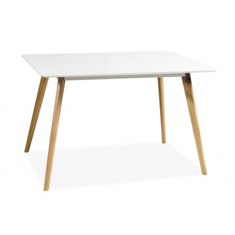 thumb Стол обеденный Milan 140х80 см Белый / Дуб 1