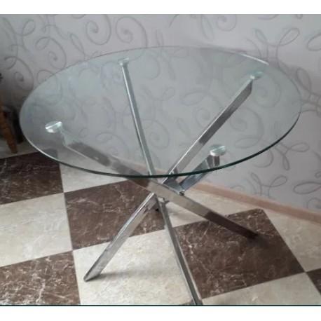 thumb Стол обеденный Agis 90 х 90 см Прозрачный /Хром 5