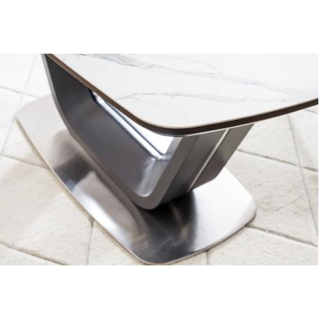 thumb Стол обеденный Armani Ceramic 160(220)х90  Эффект Мармура/Черный Мат 9