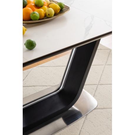 thumb Стол обеденный Armani Ceramic 160(220)х90  Эффект Мармура/Черный Мат 12