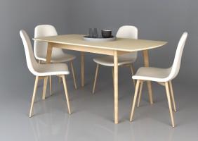 Exen II Intarsio Стол обеденный 120(160)х80 см Кремовый