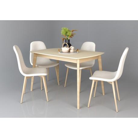 thumb Exen Intarsio Стол обеденный 120х80 см Кремовый 1