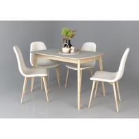 Exen Intarsio Стол обеденный 120х80 см Серый