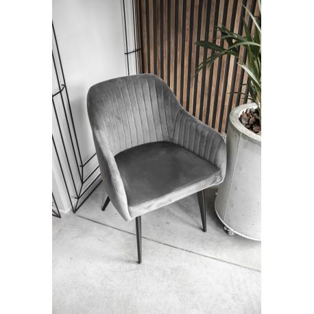 thumb Кресло Elina Velvet Серый/Черный 12