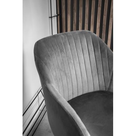 thumb Кресло Elina Velvet Серый/Черный 11