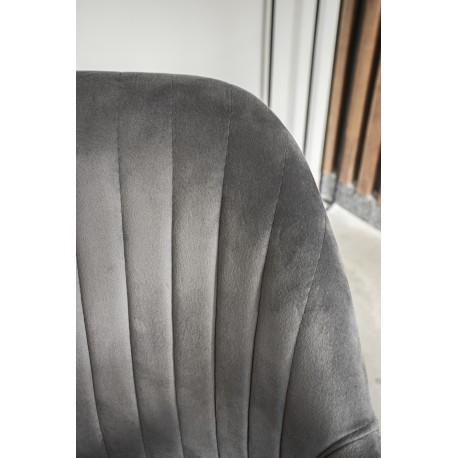 thumb Кресло Elina Velvet Серый/Черный 20