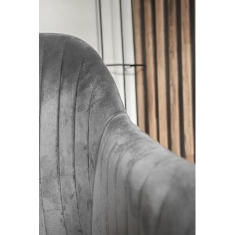 thumb Кресло Elina Velvet Серый/Черный 13