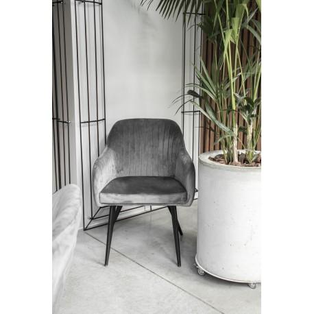 thumb Кресло Elina Velvet Серый/Черный 19