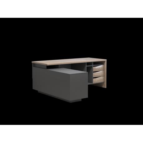 thumb Компьютерный стол Connect 1 Дуб Сонома Трюфель/Антрацит левый 6