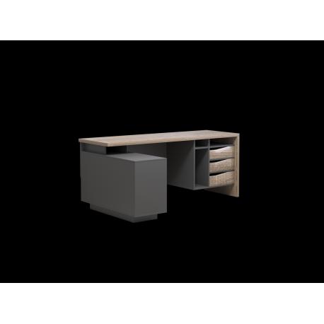 thumb Компьютерный стол Connect 2 Дуб Сонома Трюфель/Антрацит левый 6