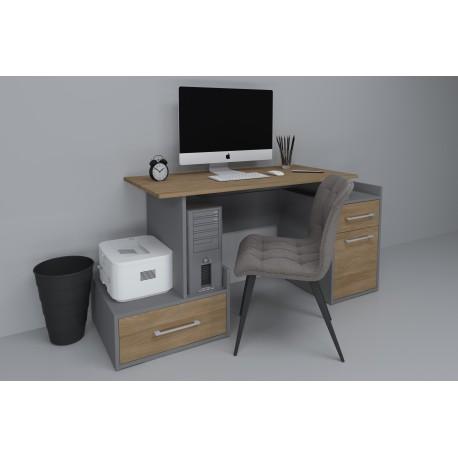 thumb Компьютерный стол Maxi Maris Серый Униколор/Дуб Золотой левый 2