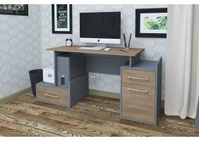 Компьютерный стол Maxi Maris Серый Униколор/Дуб Золотой левый