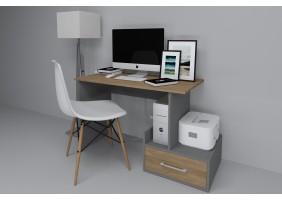 Компьютерный стол Mini Maris Серый Униколор/Дуб Золотой правый