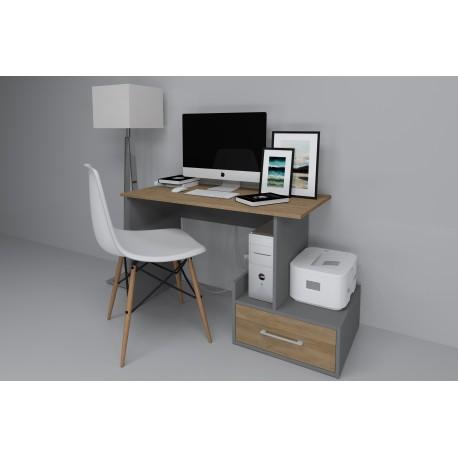 thumb Компьютерный стол Mini Maris Серый Униколор/Дуб Золотой правый 1