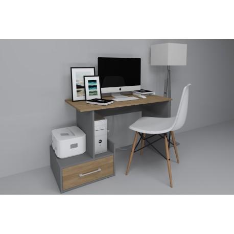 thumb Компьютерный стол Mini Maris Серый Униколор/Дуб Золотой левый 2